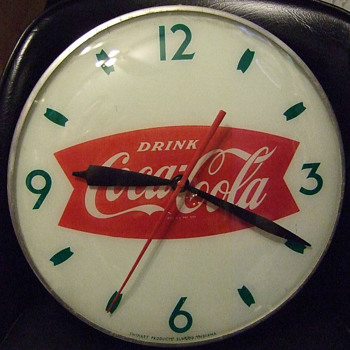 Swihart Fishtail 1950&#039;s clock - Coca-Cola