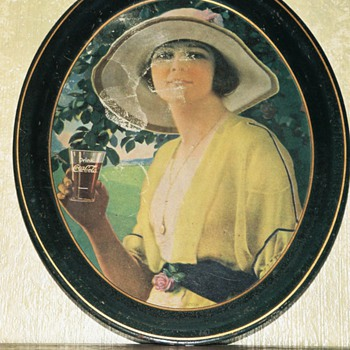 Coca Cola Golfer Girl, 1920 Oval Serving Tray - Coca-Cola