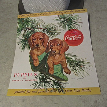 The Perfect Combo, Coke and Puppies! 1960 Calendar Reference - Coca-Cola