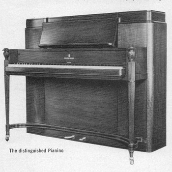 "1953 - Steinway ""Pianino"" Advertisement - Advertising"