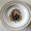 Porzelain Plate with Prussian King Frederic II. Berlin KPM 19Cent