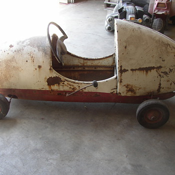 Kids gas powered pedal car I think