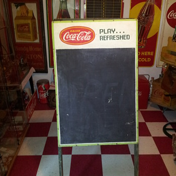 Masonite Coca-Cola Score Board - Coca-Cola