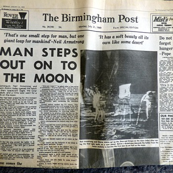 1969-british newspapers-moon landing-the birmingham post-25th anniv reprint. - Paper