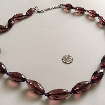 Large glass necklace