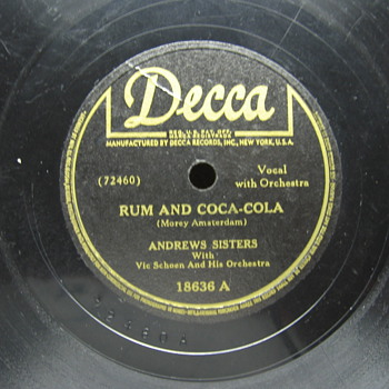 Rum and Coca-Cola - Coca-Cola