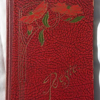 Art Nouveau poetry book