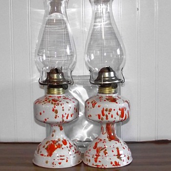 FEILDS POTTERY 74' OIL LAMPS