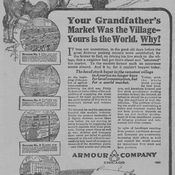 1919 - Armour Meats Advertisement - Advertising
