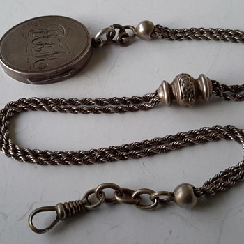 Silver albertina locket