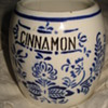 CINNAMON  PORCELAIN JAR &quot;HORNBERG BADEN # 28