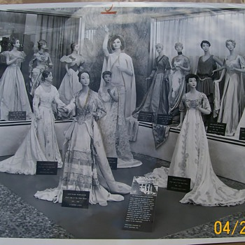 Miniature Mannequins Dressed In First Ladies Inaugural  Gowns 1968
