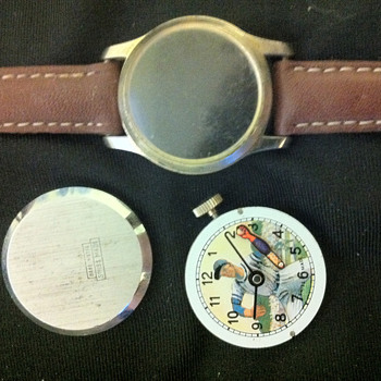 Animated Baseball Player Character Watch - Wristwatches
