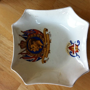 Royal Visit to Canada dish 1939? - Art Pottery
