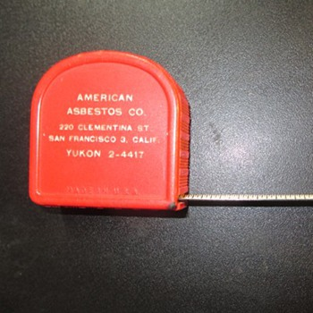 "Tape Measure ""Asbestos"" Co. promotion"