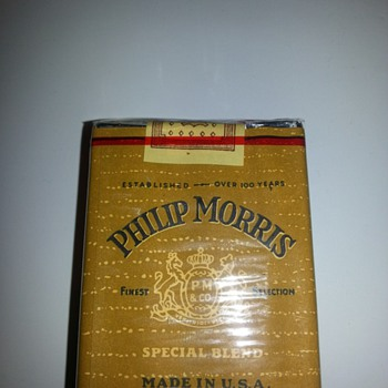 Old Philip Morris cigarettes