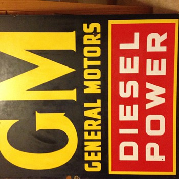 "GM ""Diesel Power Sign"" 2 sided 30x36 - Advertising"