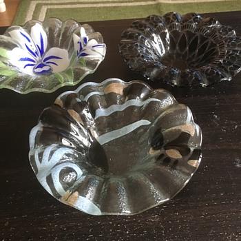 Interesting glass bowls