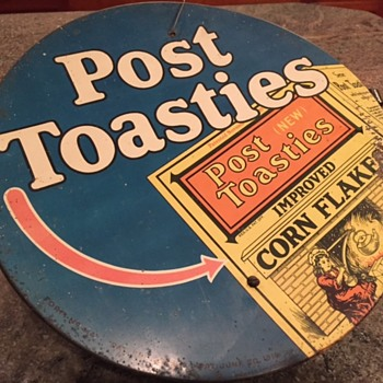 Post Toasties Metal String Holder - Advertising