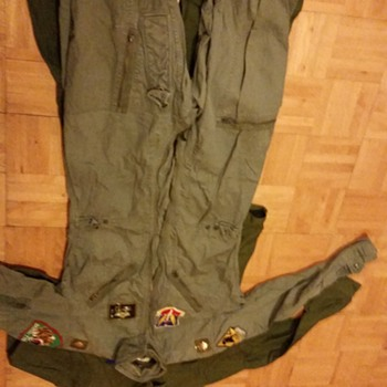 usaf skoshi tiger flight suit and f105 joke suit - Military and Wartime