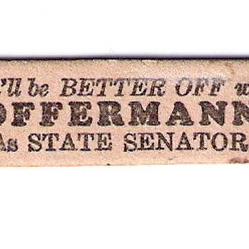 """You'll be better off with Offerman as State Senator"" Nail File - Advertising"