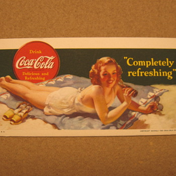 1940&#039;s Coca-Cola Blotter......maybe???? - Coca-Cola