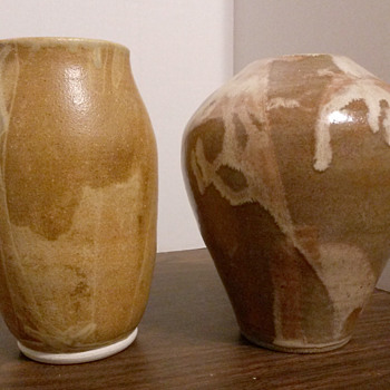 Lovely Studio Art Pottery Vases by DM???