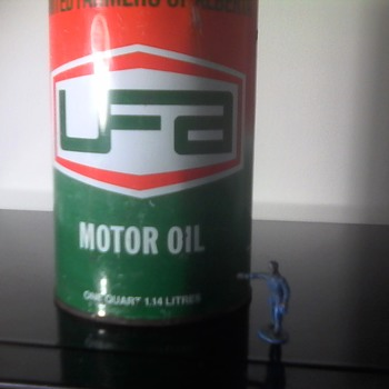 UFA Motor Oil Tin