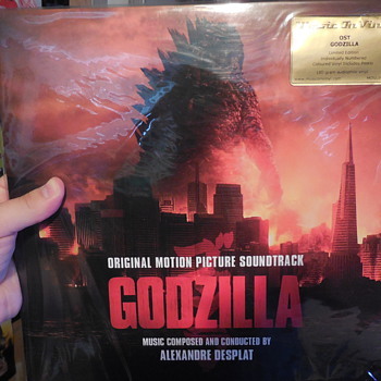 Godzilla (2014) soundtrack vinyl record Red version.