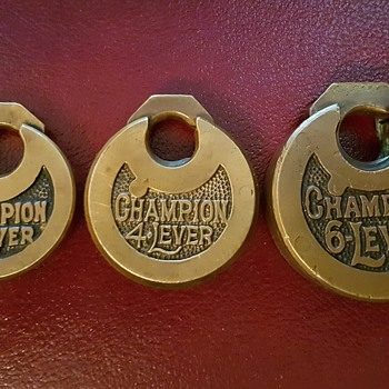 Champion Push Key Lever Padlocks