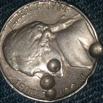 1964 Jefferson Nickel mint error (indentation)