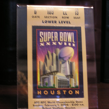Super Bowl XXXVIII Memorabilia - Football