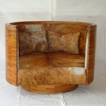 Laminated Lounge Chair c. 1970's - Furniture