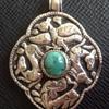 Ladakh Silver Turquoise Amulet