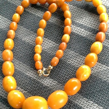 art deco butterscotch necklace - Fine Jewelry