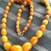 art deco butterscotch necklace
