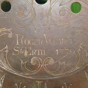 1779 Roger Wearne St Erth Clock Face - Clocks