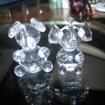 Crystal elephants - Animals