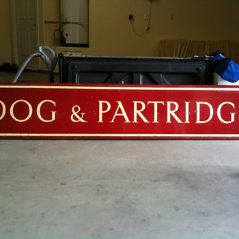 Large Porcelain Sign