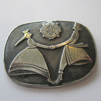 Russian silver brooch