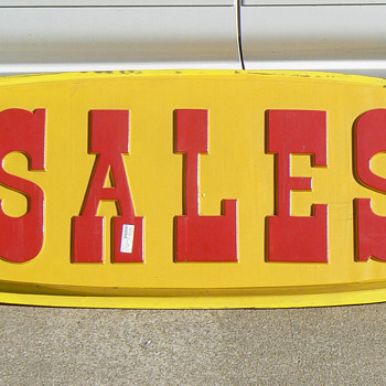 Plastic SALES signs - Signs