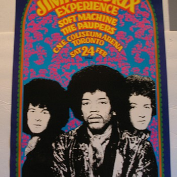 JIMI HENDRIX EXPERIENCE Psychedelic Poster GARY GRIMSHAW Tea Lautrec '88