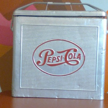 Vintage Pepsi-Cola Cooler  - Advertising