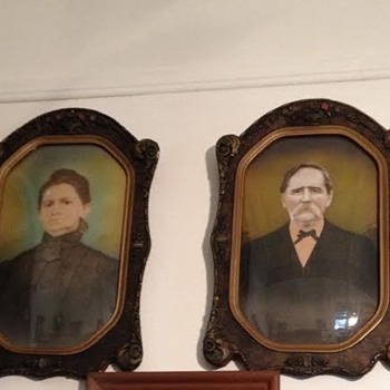 Great Grandparents' Portraits and Frames