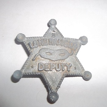 1950'S LONE RANGER BADGE - Advertising