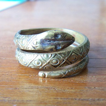Brass Snake Ring - Costume Jewelry
