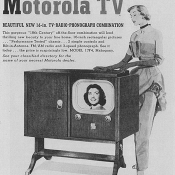 1950 - Motorola Model 17F4 Television Advertisement - Advertising