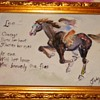 Vintage Water Colour Of Rider(me) & My Horse & Artist Judy Todd