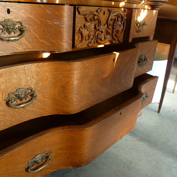 Tiger Oak Dresser