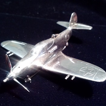 """The Silver Bullet"" Bell Aircraft WWII P-39 Airacobra, and P-39 Brooch, July 1941, the ""First Step"" toward the sound barrier."